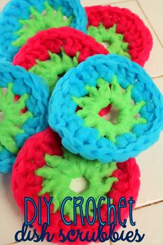 DIY Crochet Dish Scrubbies + Finish Dishwasher Detergent #SparklySavings #shop #CollectiveBias