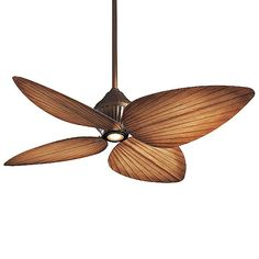 Minka Aire Gauguin Indoor/Outdoor Ceiling Fan with Light - - Size: - Body Finish: Oil Rubbed Bronze - Blade Color: Bahama Beige - Style: Tropical Low Ceiling Lighting, Kitchen Ceiling Lights, Outdoor Ceiling Fans, Outdoor Lighting, Kitchen Lighting, Lighting Ideas, Outdoor Fans, Gold Ceiling, Outdoor Venues