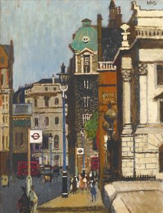 Artworks of Charles James McCall (British, 1907 - Cityscape Art, Charles James, London Art, City Art, Art World, Home Art, Watercolor Art, Architecture, Modern Art