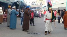 musician buskers filling the streets during the time of the Sidi Ali festival