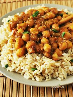 General Tso's Chick Peas (vegan, Gluten-free) With Chickpeas, Liquid Aminos, Lemon Juice, Tapioca Starch, Coconut Oil, Garlic, Ginger, Spring Onions, Water, Coconut Sugar, Liquid Aminos, Sesame Oil