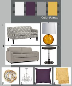 Yellow And Grey Bedroom On Pinterest Purple Color Palettes And Grey Yellow
