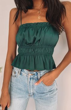 Silva Ruched Crop Emerald - 10 Where did the Silva Ruched Crop ., Silva Ruched Crop Emerald - 10 Source by party outfit summer Night Out Outfit Clubwear, Club Outfits Clubwear, Club Outfits For Women, Clothes For Women, Cheap Tank Tops, Going Out Outfits, Fashion Outfits, Woman Outfits, Women's Fashion