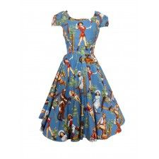 Cow girl dress with full circle skirt