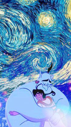Disney meets Van Gogh...Genie & Aladdin