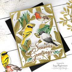 Spectrum Noir Markers, Bird Cards, Peace On Earth, Copic Markers, Handmade Design, Colored Pencils, Gift Wrapping, Birds, Stamp