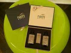 #Nashi Geschenkbox für #Weihnachten! Shampoo, Conditioner und Haaröl.  Top-Haarpflegeprodukte mit Argan-Öl für gesundes und geschmeidiges Haar!