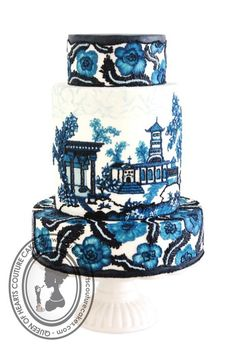 Wedgwood by Queen of Hearts Couture Cakes (4/2/2013) View details here: http://cakesdecor.com/cakes/56334