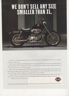 1994 Advertisement Harley Davidson Sportster XLH 883 90s Motorcycle Motorbike Biker Black Shop Garage Clubhouse Dealership Wall Art Decor