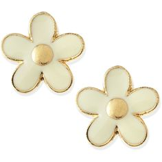 MARC by Marc Jacobs Daisy Stud Earrings ($47) ❤ liked on Polyvore featuring jewelry, earrings, accessories, brincos, cream, daisy stud earrings, daisy earrings, daisy jewelry, cream jewelry and earrings jewelry