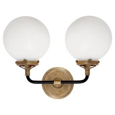 Mid-Century Parlor Double Sconce