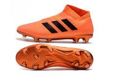 new style 41d39 7df6f adidas Nemeziz 18+ FG Zapatillas de Fútbol - Naranja Negro. Zapatos De  MessiZapatos ...