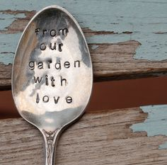 Hand stamped spoon :-)