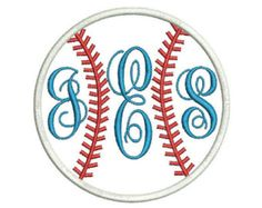 Baseball Softball Stitches Applique Machine by Embroiderstock