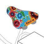 aqua flower bike seaT COVER