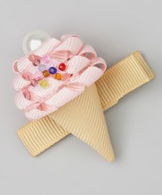 Another great find on #zulily! Pink Ice Cream Cone Clip by Bubbly Bows #zulilyfinds