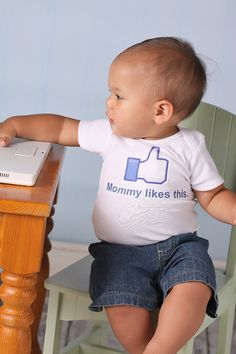 Mommy Likes This - Personalized Baby Onesie - Toddler Tee  also available - You Fill in Your Name Choice. $17.00, via Etsy.