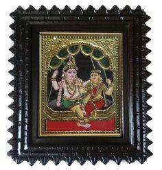 Krishna Rukmani Tanjore Painting   #painting #craftshopsindia