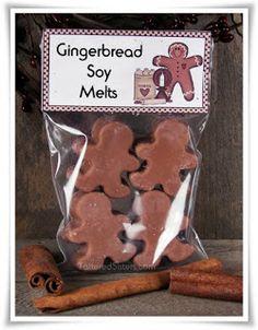 Christmas wax melts gift - gingerbread melts packaging