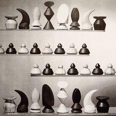 """#MaxErnst, """"Wood Chess Set"""", 1945 #theimageryofchess"""