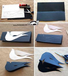 Simple Cardboard Swallow