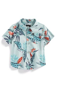 Quiksilver 'Everyday' Print Woven Shirt (Baby Boys) available at #Nordstrom