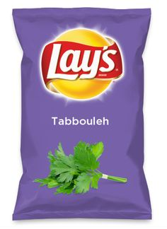 Wouldn't Tabbouleh be yummy as a chip? Lay's Do Us A Flavor is back, and the search is on for the yummiest flavor idea. Create a flavor, choose a chip and you could win $1 million! https://www.dousaflavor.com See Rules.