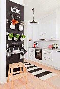 Inspiracje w moim mieszkaniu {Inspiration in my apartment}: Skandynawska biało-czarna kuchnia /Scandinavian bl...