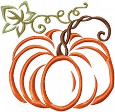 pumpkin with Twisted Vine Comes in 4,5,6,7,8 inch sizes Triple Pumpkin comes in 5x7 5 pumpkin Border Comes in 11x4, 9x3 You MUST have an embroidery machine and the software needed to transfer it from                                                                                                                                                                                  More