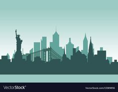 United states of america silhouette architecture vector image on VectorStock Circuit Tattoo, Skyscrapers, Monuments, Travel Usa, Adobe Illustrator, Statue Of Liberty, Vector Free, Buildings, Bridge