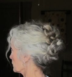 Another pinner said: three ponytails braided the twirled around..Saw this on Pinterest and had to try it. Easy !