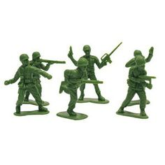 Party Time Celebrations  - Green Army Men Party Favors, $10.95 (http://www.partytimecelebrations.com.au/green-army-men-party-favors/)