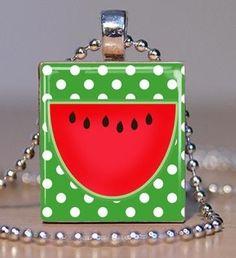 Watermelon pendant