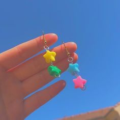 Weird Jewelry, Cute Jewelry, Beaded Jewelry, Handmade Jewelry, Funky Jewelry, Jewelry Ideas, Jewellery, Kids Jewelry, Funky Earrings