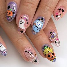 Manicure Nail Designs, Fall Nail Art Designs, Perfect Nails, Gorgeous Nails, Nail Ink, Hippie Nails, Cute Halloween Nails, Kawaii Nails, Grunge Nails