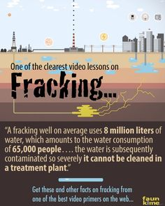 This is an incredible VIDEO which effectively uses illustration to explain fracking.  Even if you know a lot about this method of energy extraction, this primer will still amaze.  It's one to watch again and again.