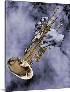 Caucasian Ethnicity Digital Art - Trumpet Player by Nick White Jazz Trumpet, Trumpet Music, Play Trumpet, Trumpet Accessories, Trumpet Tattoo, Trumpet Instrument, Saxophone Players, Trumpet Players, Jazz Art