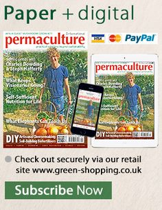 Subscribing to Permaculture gives you :A saving of up to 25%on the UK price shop price,plus FREE home delivery.1 year £14.95 (rrp £19.80 saving 24.49%)2 years £27.95 1(rrp £39.60 saving 29.42%)