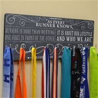Hooked On Medals Running Medal Hanger from Goneforarun.com. Display all your running medals with pride.