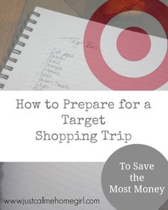 Prepare for your Target Shopping Trip so you can save the most money! Great tips! Love #5!