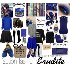 """faction fashion: a day & night out with the erudite"" by sunkissedaloha on Polyvore"