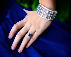 Sapphire ring and diamond cuff!