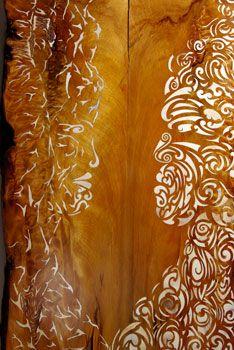 Te Ranginui & Papatuanuku, bone pieces inlaid in years old Kauri slab, won art award in 2009 Maori Art, Blank Space, Arts Award, Artist Gallery, Wearable Art, Jade, Art Ideas, Sculptures, Carving
