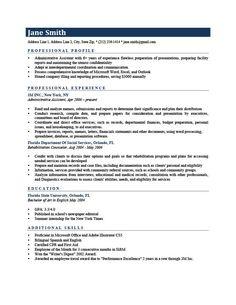 Professional Profile Resume Resume Template Washington Black  Resumes  Pinterest  Template