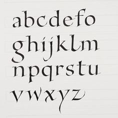 Pretty Fonts Alphabet, Calligraphy Fonts Alphabet, Pretty Letters, How To Write Calligraphy, Hand Lettering Fonts, Brush Lettering, Lettering Design, Pencil Calligraphy, Handwriting Analysis