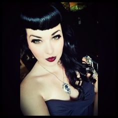 Bettie Bangs Curly hair