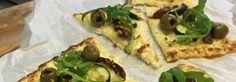 Bloemkoolpizza met courgette, artisjok & zongedroogde tomaat