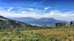 Brim Trail (at PowMow) overlooking Snowbasin and Pineview Reservoir.