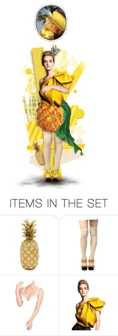 """""""Pineapple Penny"""" by chomiczynka ❤ liked on Polyvore featuring art, chomiczynkadolls and dollsXnature"""