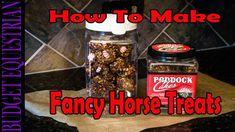 How To Make Fancy Homemade Horse Treats - Budget Equestrian Homemade Horse Treats, Make And Sell, Dog Treats, Granola, Food And Drink, Fancy, Horses, Horse Stuff, Peaches